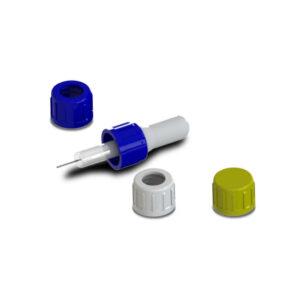 14 mm. con perforación para gotero. Código: T-1402