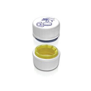 Tapas plásticas 28 mm. a prueba de niños con precinto inviolable. Código: T-2871
