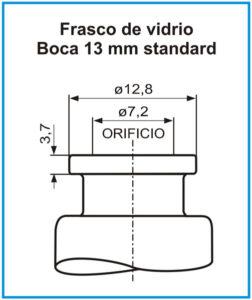 plano-Frasco-de-vidrio-boca-13-mm-standard