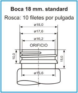 plano boca 18 mm standard