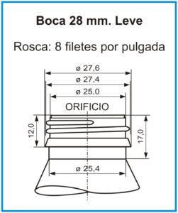 plano boca 28 mm leve