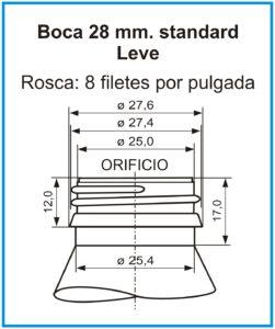 plano boca 28 mm standard leve