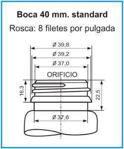 plano boca 40 mm standard
